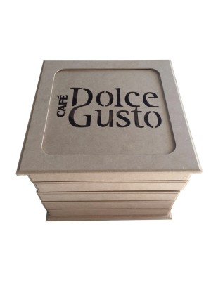 CAIXA DOLCE GUSTO C/05 GAVETAS PARA 80 CAPSULAS REF.000688