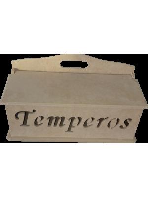 CAIXA TEMPERO VAZADO TAMPA BASCULANTE 32X12X18CM