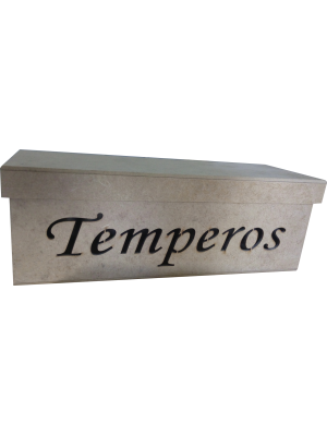CAIXA VAZADA TEMPEROS TAMPA SAPATO 28X10X10CM