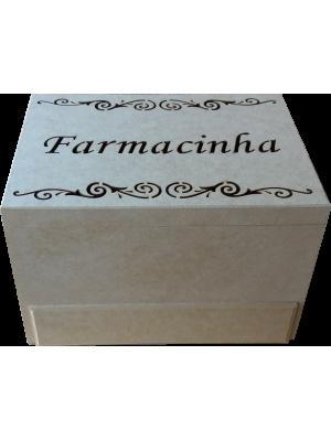 CAIXA FARMACINHA COM GAVETA E DOBRADIÇA 30x22x19cm