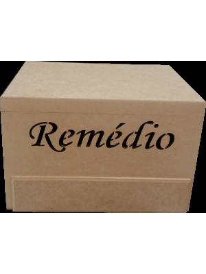 CAIXA REMÉDIO COM GAVETA E DOBRADIÇA 30X22X19CM