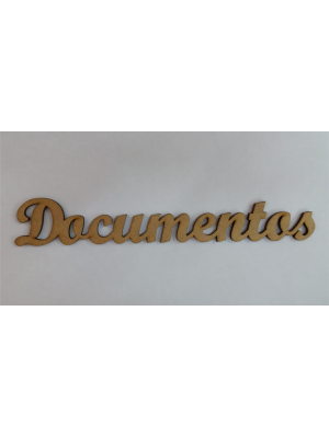 APLIQUE DOCUMENTOS 18,5X3CM