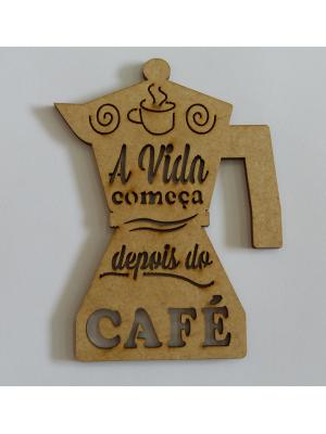 APLIQUE A VIDA COMEÇA DEPOIS DO CAFÉ P 7,5X10CM
